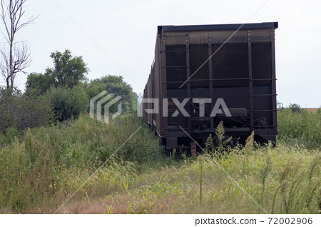 Old Abandon Black Rail Road Car in county  72002906