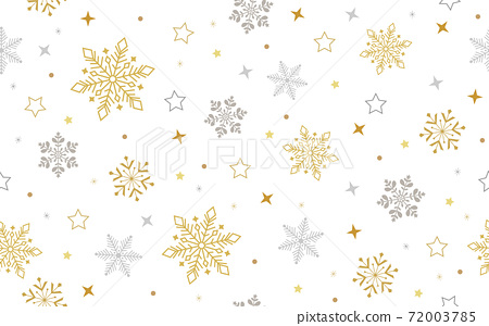 Seamless ice crystal pattern gold gold 72003785
