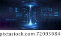 Futuristic circle 3D lab 72005684