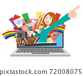 Image illustration of video distribution content 72008075