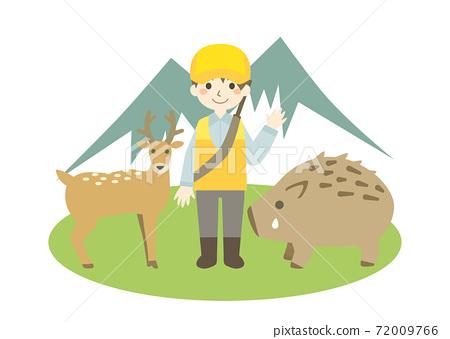 獵人,鹿和犬志 72009766