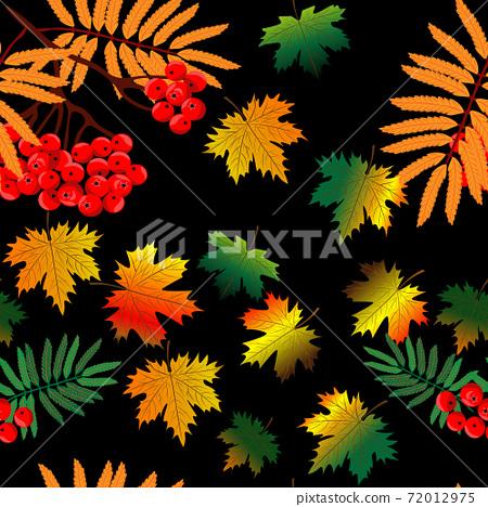 Seamless autumn patter. 72012975