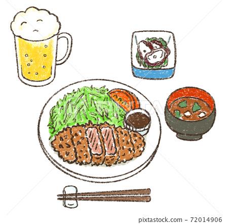 炸豬排配啤酒 72014906