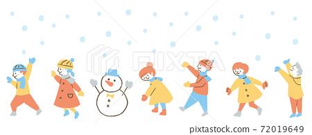 孩子們在雪地裡玩2 72019649