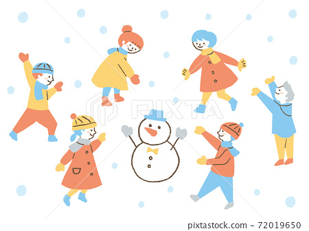 Children playing in the snow 1 72019650