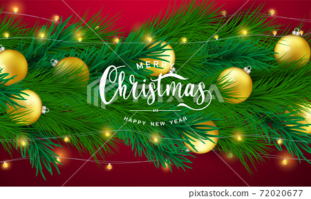 Merry Christmas and Happy New Year background. 72020677