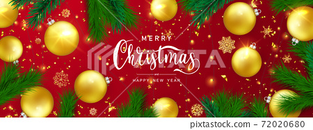 Merry Christmas and Happy New Year background. 72020680
