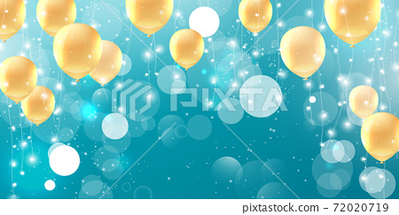 Christmas lights abstract element that can be used cover decoration bokeh background party color balloons Glow, 72020719