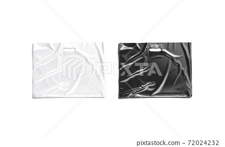 Blank big black and white die-cut plastic bag mock up 72024232