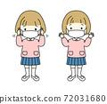 戴著面具的小女孩 72031680