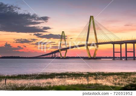 Charleston, South Carolina, USA at Arthur Ravenel Jr. Bridge 72031952