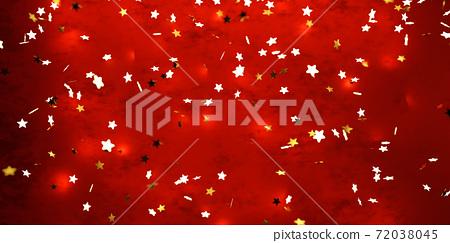 background of blurry unfocused golden stars design red background wallpaper 3d render illustration 72038045