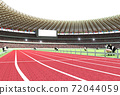 2021 년 (令和 3 년) 올림픽 개최 연도 것으로 육상 경기장을 모티브로 한 연하장 소재 72044059