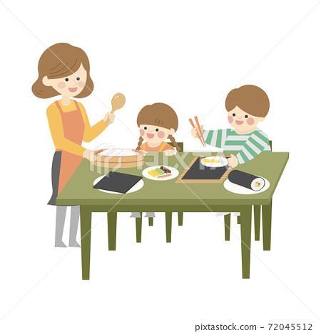 家庭製作壽司卷 72045512