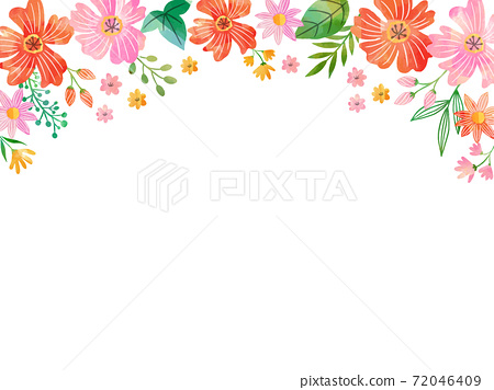 水彩紋理花相框 72046409