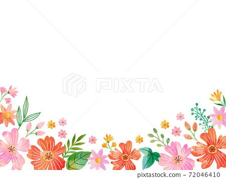 水彩紋理花相框 72046410