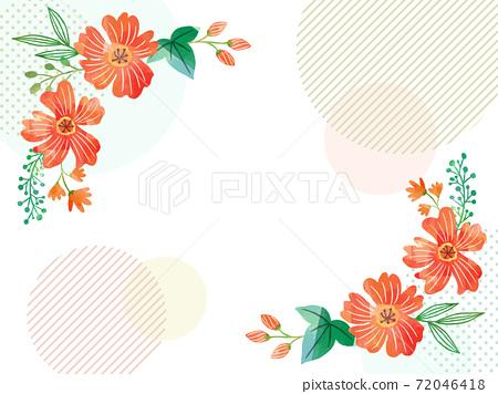 水彩紋理花相框 72046418