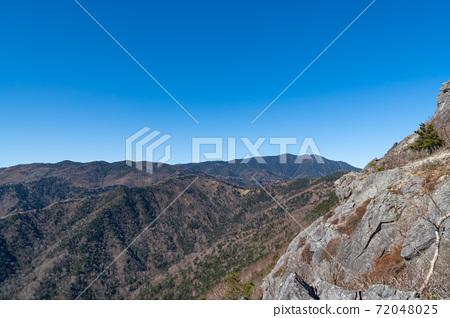 비 乞岩 부근에서 본 경치 (乾徳山) 72048025