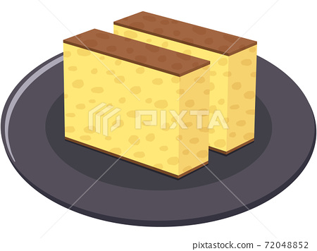 Castella (with plate) 72048852