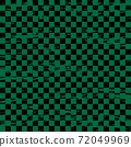 Japanese pattern checkered pattern with grunge processing 72049969