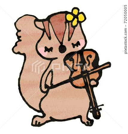 松鼠拉小提琴的插圖 72050005