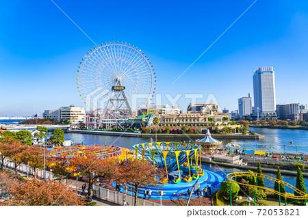 [神奈川縣]清新的藍天和橫濱宇宙世界 72053821