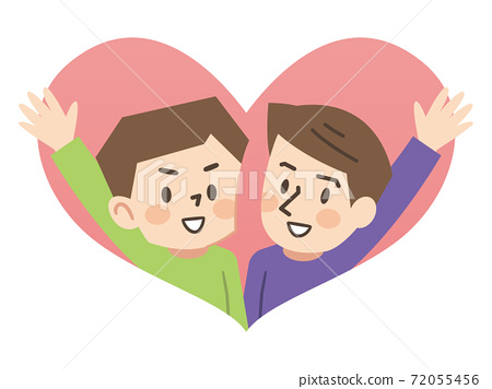 Illustration of a good friend same-sex couple 72055456