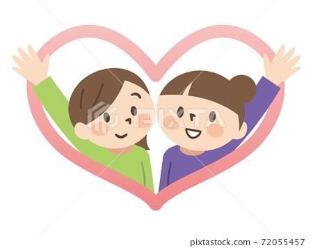 Illustration of a good friend same-sex couple 72055457