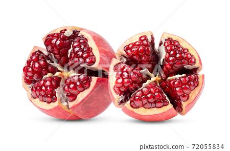 Pomegranate on white background 72055834