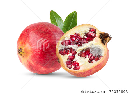 Pomegranate on wite background 72055898