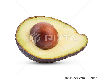 half avocado on white background 72055899