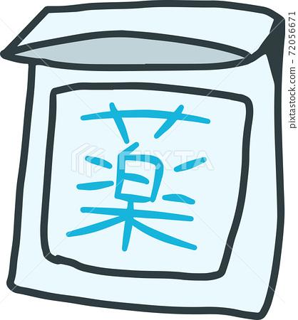 Handwritten cute medicine illustration 72056671