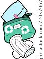 衛生巾和小袋的形象 72057067