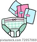 衛生巾和短褲的形象 72057069
