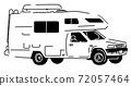 黑色和白色的露營者 72057464