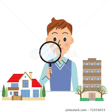 爸爸正在考慮購買公寓或獨立屋 72058653