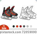 Coloring book for kids, Ice hockey skates 72059090
