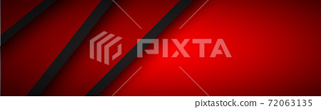 Abstract header with red and black layers above each other. Modern design banner for your business 72063135