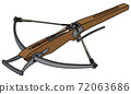 The historical wooden crossbow 72063686