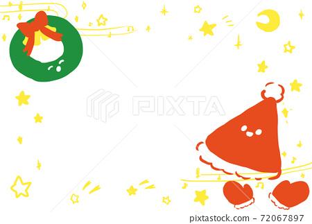 聖誕賀卡 72067897