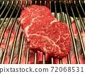 韓國牛肉用炭火精心烤製 72068531