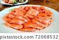 新鮮美味的三文魚刺身 72068532