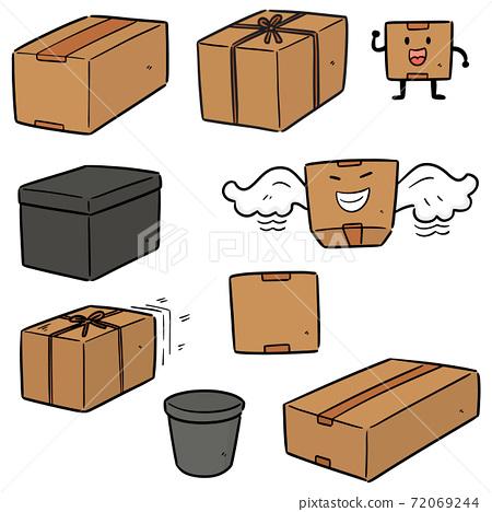vector set of box 72069244