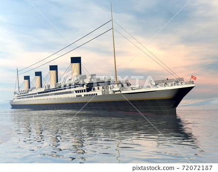 Titanic ship - 3D render 72072187