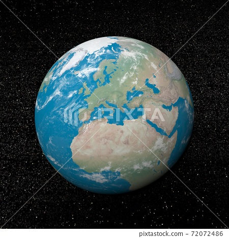 Europe on earth - 3D render 72072486