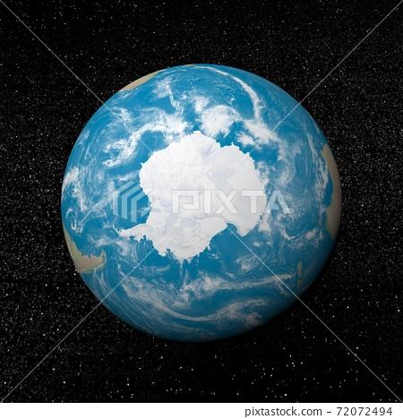 Antarctica on earth - 3D render 72072494