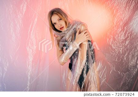 art portrait woman protection social isolation 72073924