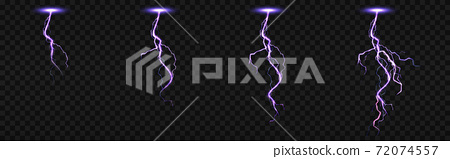 Sprite sheet with lightnings for fx animation 72074557