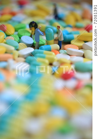 office man on the path of pills 72081391