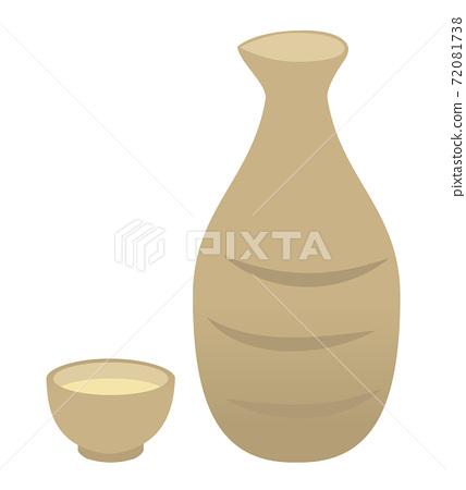 井口和德鶴的插圖/白色背景 72081738
